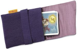 Purple Petals. Japanese vintage silk foldover pouch. Slight seconds.