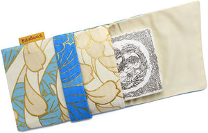 Third and final batch! Soft Creams, Blues, Golds - foldover tarot pouch in vintage Japanese kimono silk