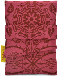Brocade tarot bags, red tarot pouch lined in silk by Baba Studio