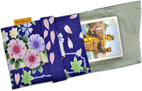 Foldover tarot bag lined in silk, tarot pouch in vintage Japanese kimono, limited edition bags by Baba Studio