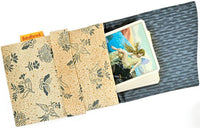 Foldover tarot bag, tarot cards, antique fabric, Japanese kimono, pure silk, tarot bag