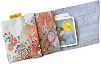 Silk bag by Baba Studio, foldover tarot pouch in vintage Japanese pure silk.