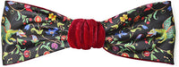 Velvet headband with dragons, printed satin headband, burgundy silk velvet. By Baba Studio
