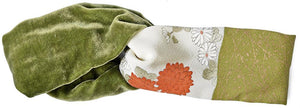 Silk headband from vintage Japanese kimono, printed velvet headbands by Baba Studio