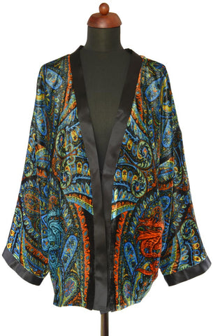 Dancing Dragons, silk velvet jacket