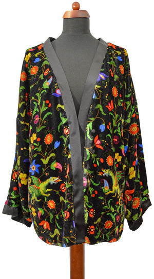 Mythical Beasts silk velvet jacket.