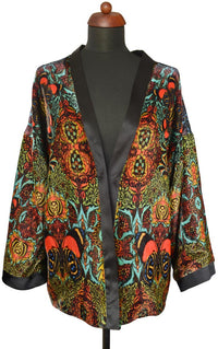 Flaming orange Butterfly Belle, silk velvet jacket - Baba Store EU - 1