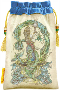 Mythical Creatures Tarot bag, Melusine, mermaid tarot pouch by Baba Studio