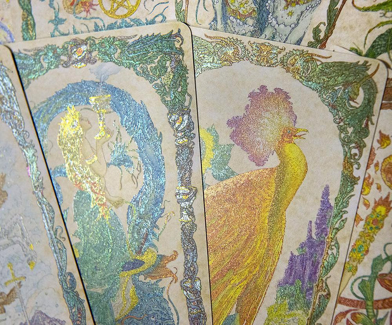mythical creatures tarot, unicorn tarot, baba studio, bababarock, tarot decks, mythical creatures, unicorn tarot, dragon tarot