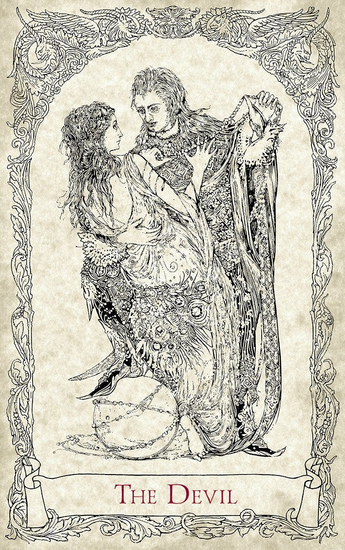 The Lovers The Vampire. Mythical Creatures Tarot, Baba Studio