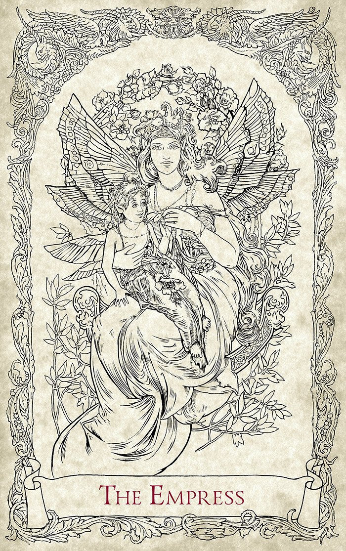 The Empress, the Fairy Queen. Mythical Creatures Tarot, Baba Studio