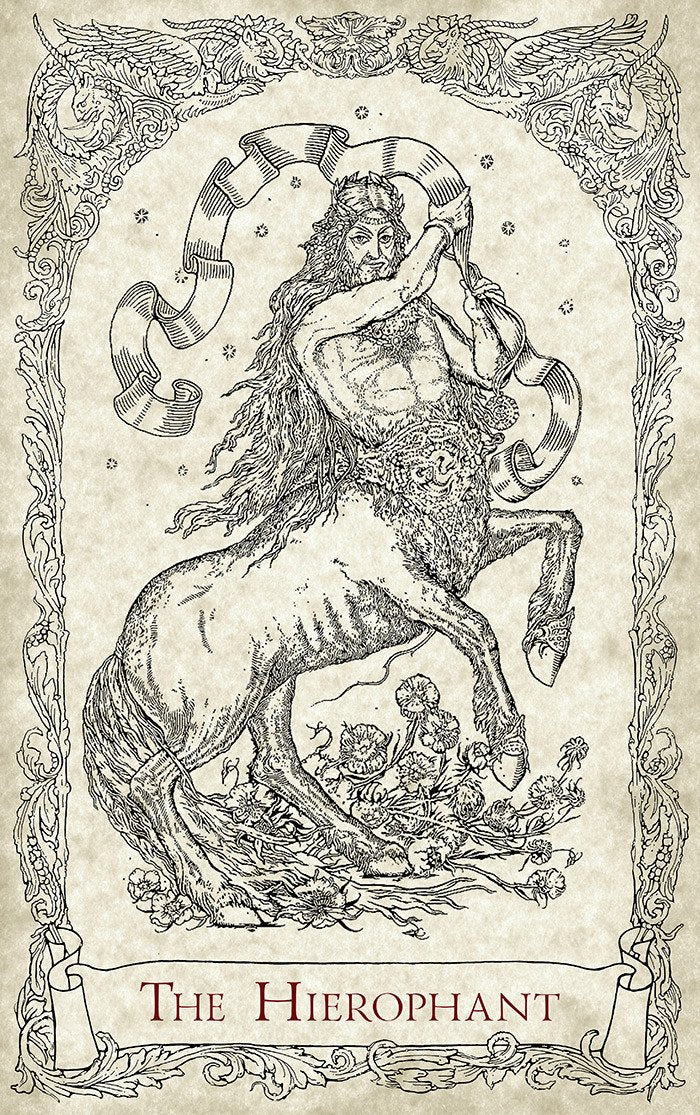 The Hierophant, The Centaur. Mythical Creatures Tarot, Baba Studio