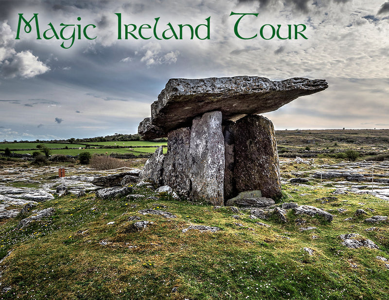Magic Ireland, guided tour of Wild Atlantic Way, Poulnabrone Dolmen in The Burren, Irish archaeology, ancient history