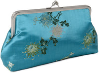 Antique Chinese brocade clutch, 10 inch size.