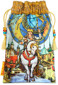 Tarot of Prague limited edition bag in Knight of Wands print. - Baba Store EU - 1