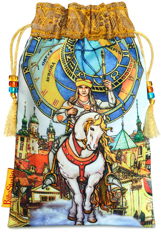 Tarot of Prague limited edition bag in Knight of Wands print.
