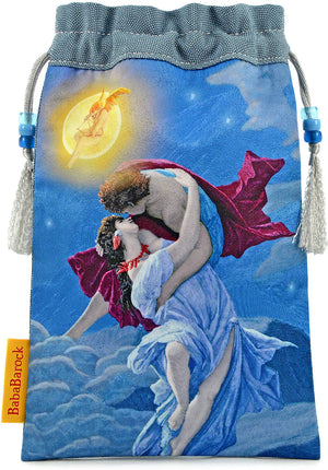 The Lovers, limited edition tarot bag from the Victorian Romantic Tarot