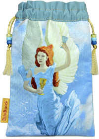 Limited Edition tarot bag in sandwashed pure silk. Temperance from The Victorian Romantic Tarot by Baba Studio.