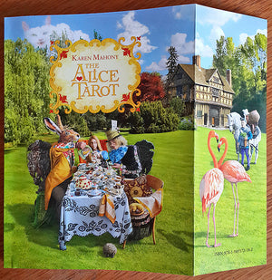 Alice Tarot companion book, alice in wonderland tarot deck, baba studio