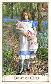 Pig baby, Alice in Wonderland, tarot cards, Baba Studio