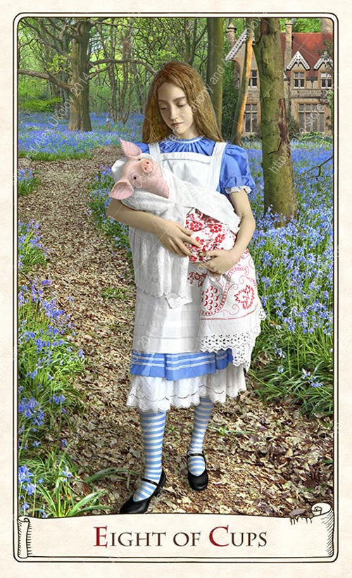 Baba Studio Alice Tarot deck, Alice in Wonderland tarot cards, through the looking glass, pig baby