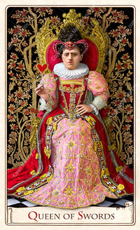 Red Queen from The Alice Tarot by Baba Studio, Alice in Wonderland tarot deck