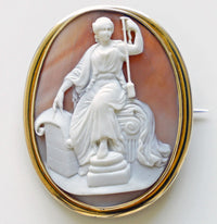 cameo, shell cameo, antique, fate, fortune, fortuna, three fates, mythology, carved, baba studio