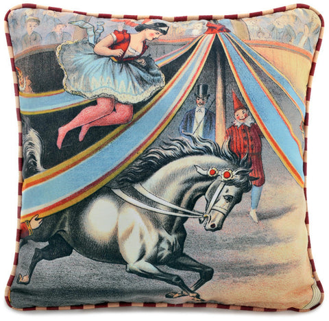 Circus! The bareback rider, with fun printed striped piping (Reserved for EG)