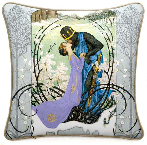 Knight and Lady cushion/pillow