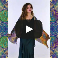 Celtic Dances, pure silk-satin scarf/wrap. - Baba Store EU - 2