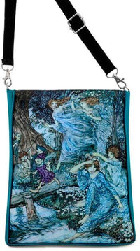 Arthur Rackham's Fairies by Night by Arthur Rackham, teal version - Baba Store - 1