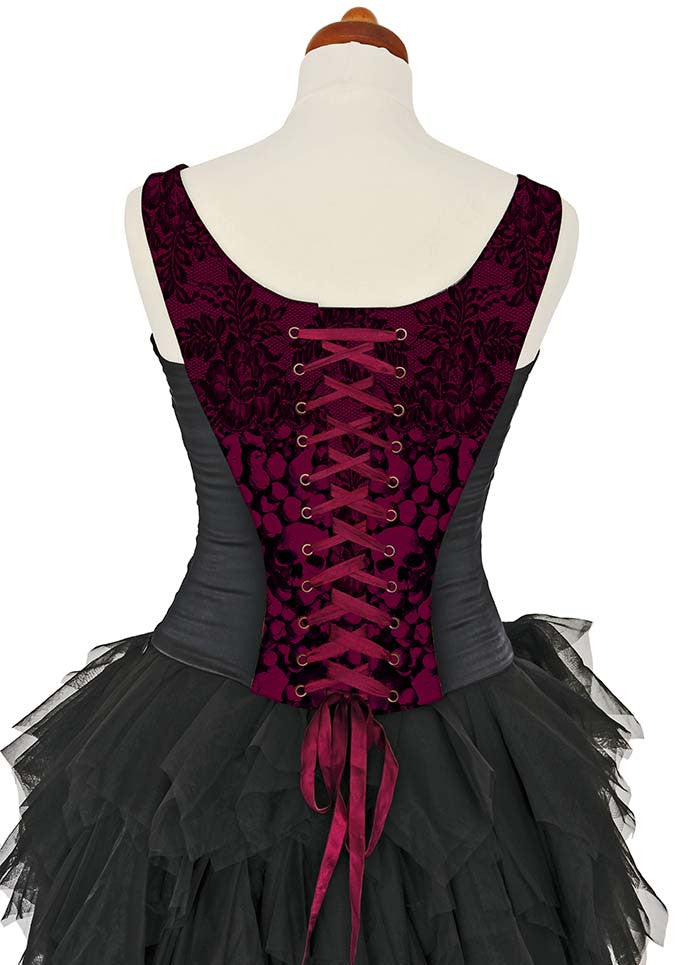 L'amour de Pierrot, burgundy, with black stretch silk - Baba Store EU - 4