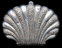 Paris souvenir solid silver antique coin purse in the shape of a shell. In great, usable condition. - Baba Store - 2