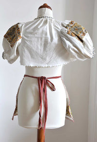 Czech/Moravian antique child's kroj folk costume - rare find and wonderful hand work. - Baba Store - 4