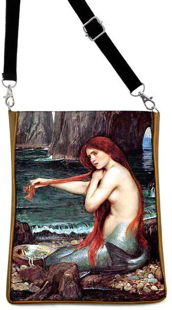 The Mermaid by William Waterhouse, gold version - Baba Store - 1