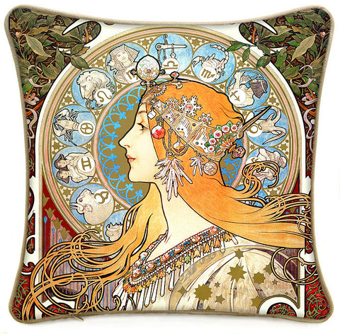 Only 1 left!! Mucha's zodiac cushion/pillow