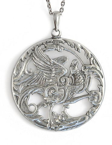 Phoenix Rising, sterling silver pendant