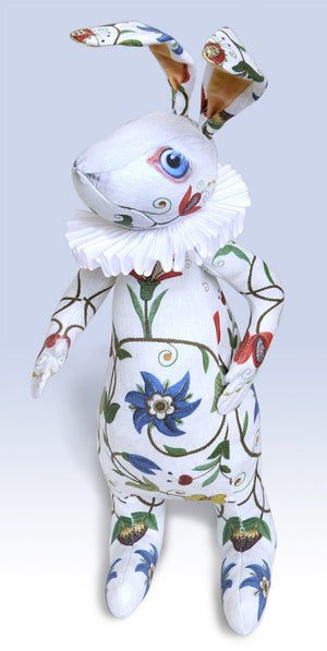 "The White Rabbit ""Dreams of Flora"" art doll — One off - Baba Store EU - 2"