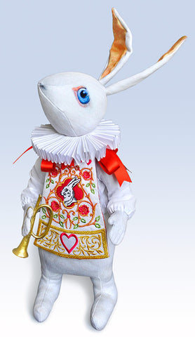 "The White Rabbit ""Herald"" art doll, Limited edition of 100 - Baba Store EU - 1"