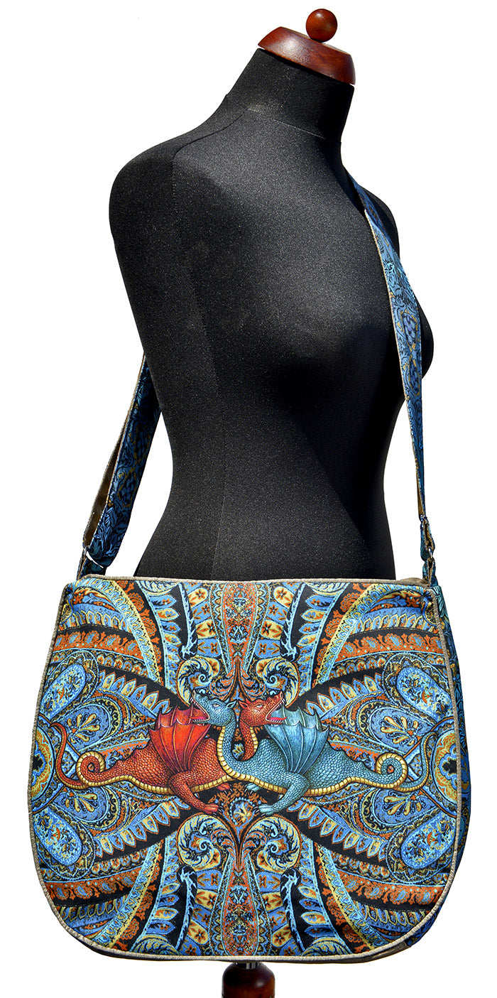 Dragons Dancing - Big slouchy bag. Slight Seconds.