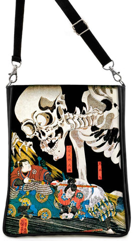 Standing against the Skeleton, Kunyoshi print