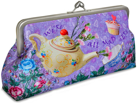 The Tea Party, lavender, 10 inch size in dupion