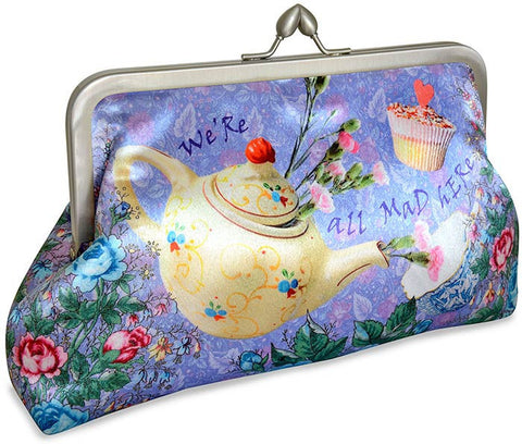 The Tea Party, lavender, 8 inch size in satin