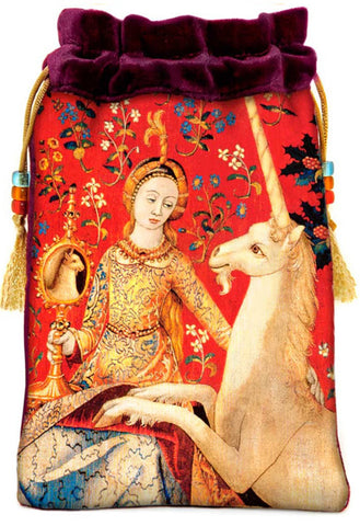 The Lady and the Unicorn — burgundy silk velvet - Baba Store EU - 1