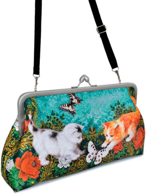 Victorian Kittens, 10 inch size clutch in dupion - Baba Store EU - 4