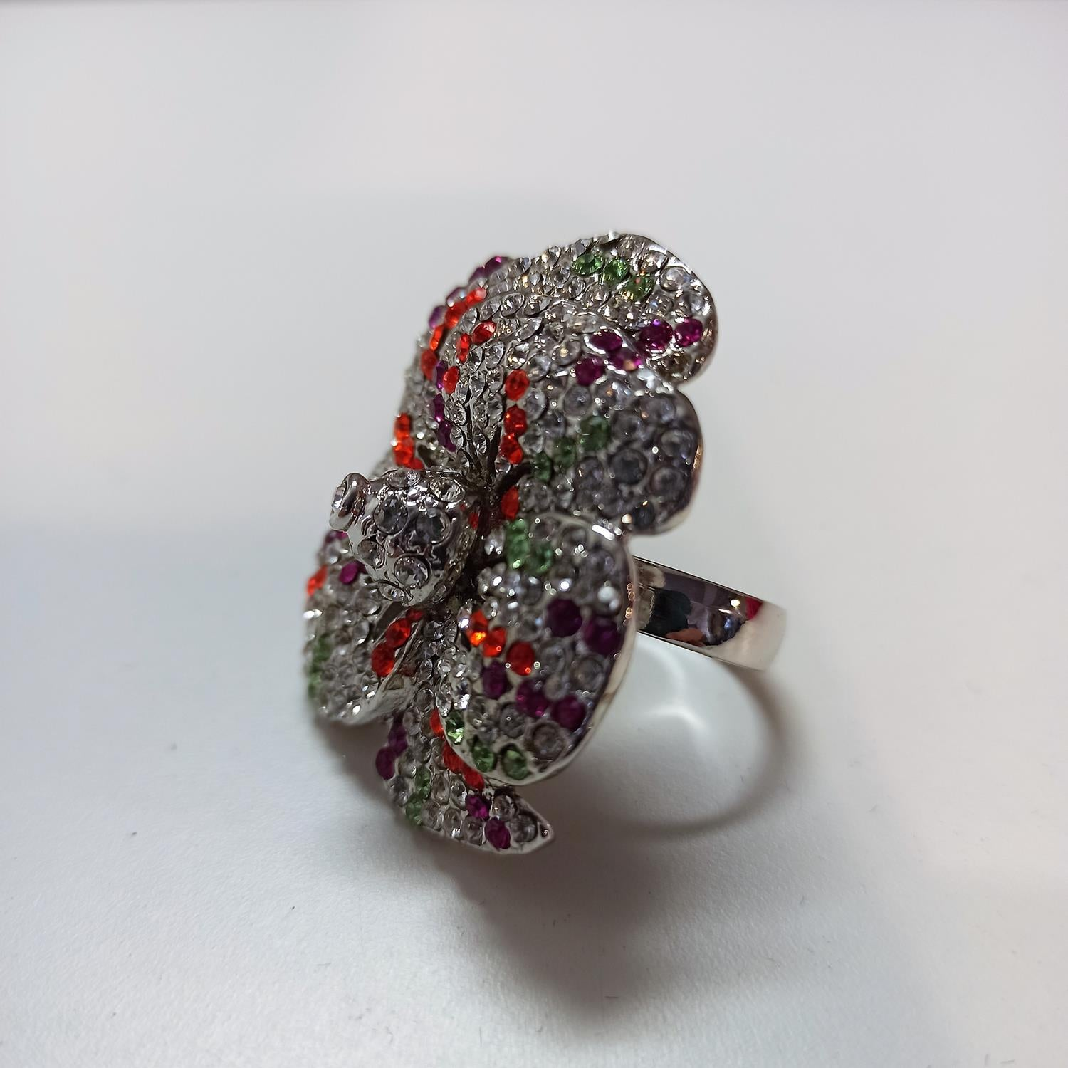 Anello flower crystal