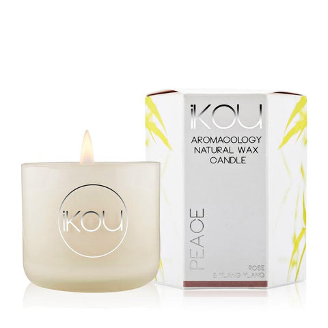 IKOU Eco-Luxury Candle Glass – Peace