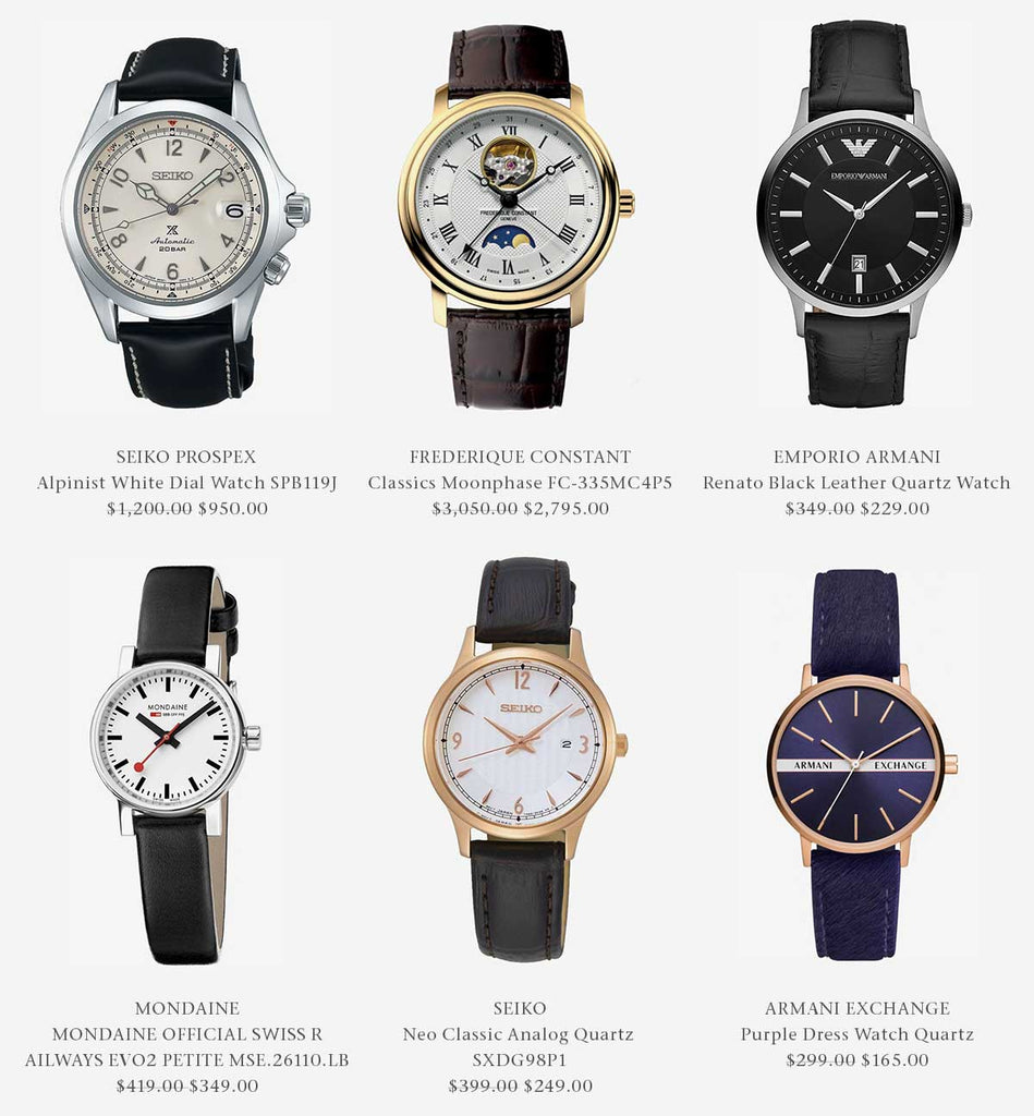 Shop Leather Band Watches