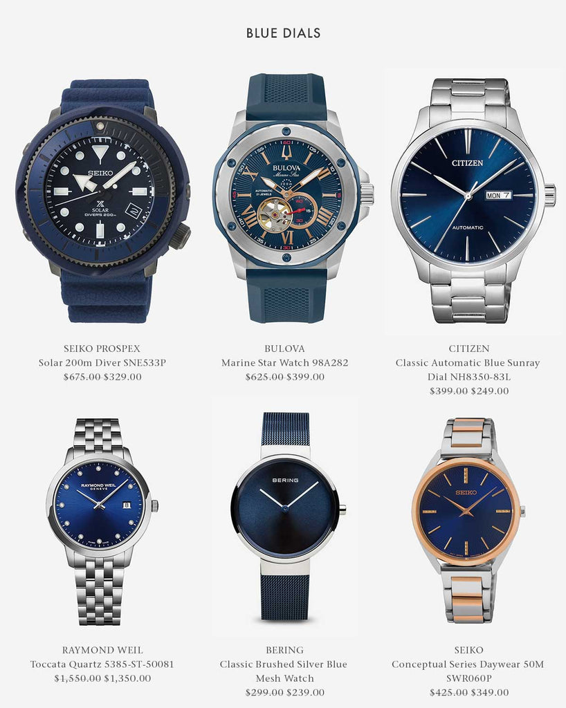 Shop Blue Dial Watches