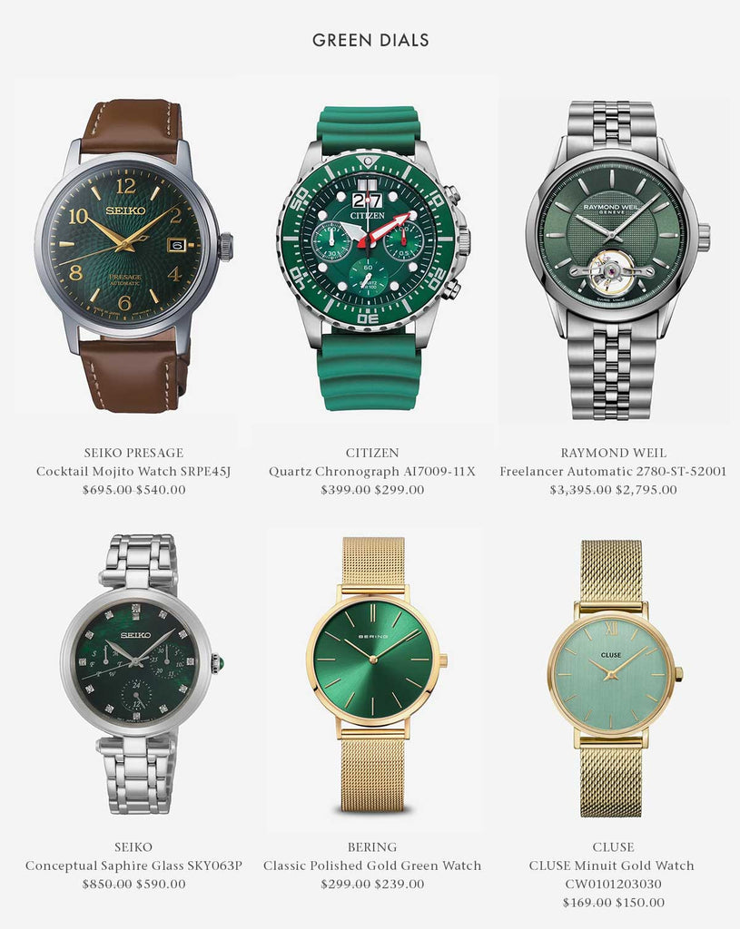 Shop Green Dial Watches